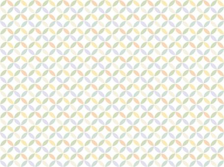 和柄背景-七宝模様カラフル