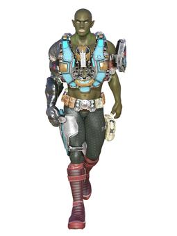 ムキムキの宇宙人乗組員
