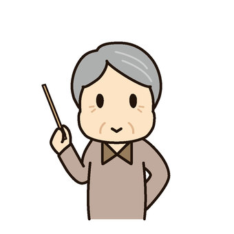 Grandpa pointing rod