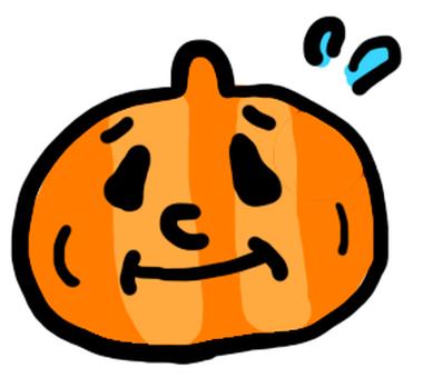 A pumpkin in troublesome face