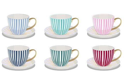 Tea cup stripe 6 colors