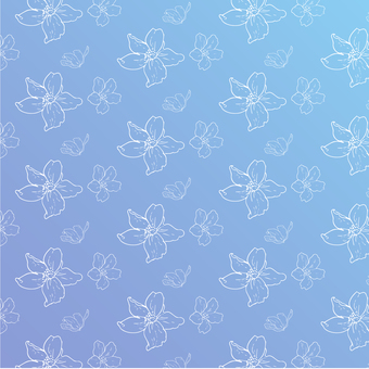Small flower pattern (white line)