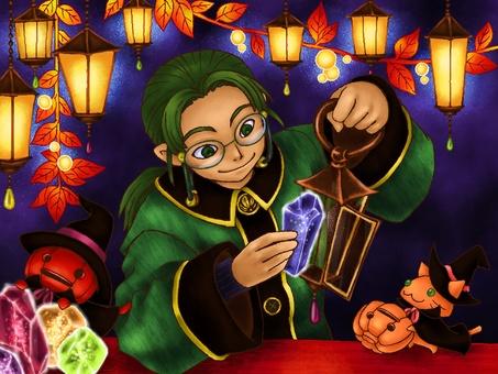 Magic stone lamp and fairies