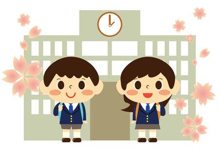 Graduation ceremony of entrance ceremony image Gender