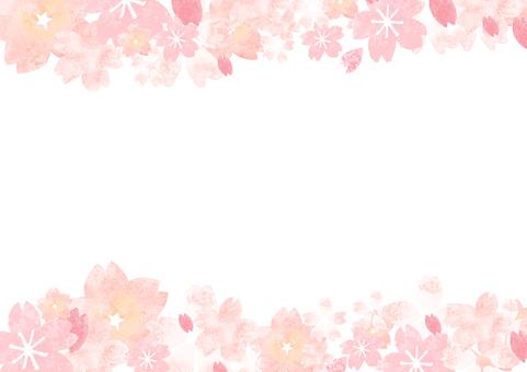 Light Water Cherry Blossom Frame