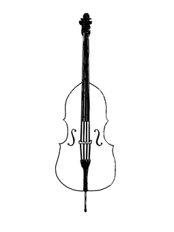 Contrabass line drawing