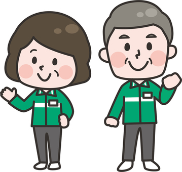 Two head __ convenience store staff _ senior