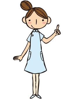 Nurse (Blue / pointing)