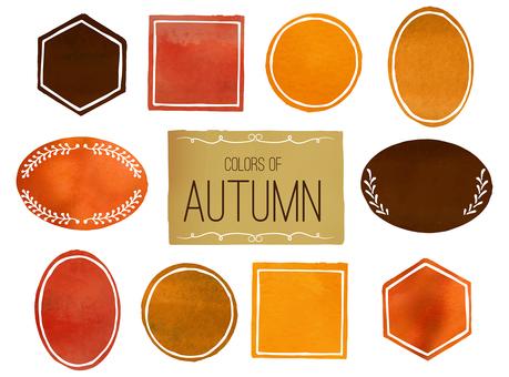 Autumn color watercolor frame