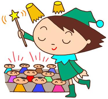 Elementary school character, school entertainment society