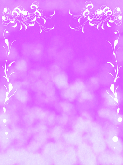Purple / hand-painted frame