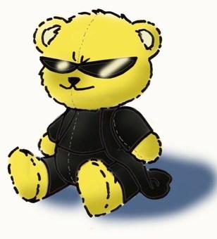 Stuffed animal with Mattukka little bad bear