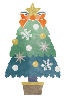 Watercolor style Christmas tree