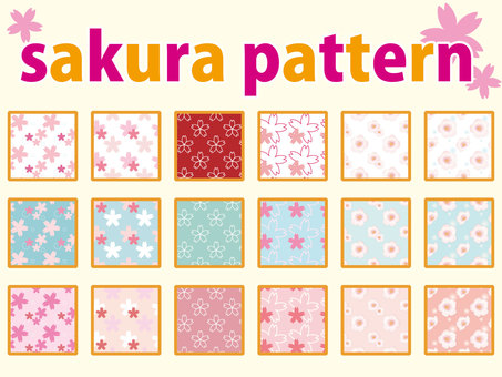 Sakura pattern handle