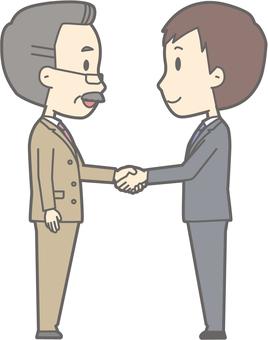 Handshake -04 - whole body