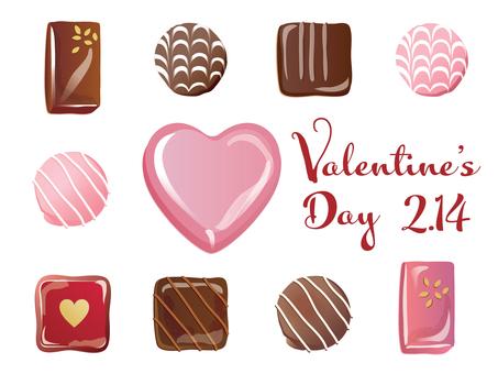 Valentine chocolate set_01 pink