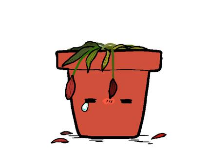 Dead flowerpot