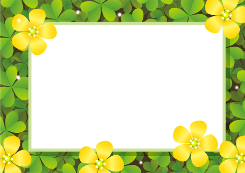 Clover flower blooming board background