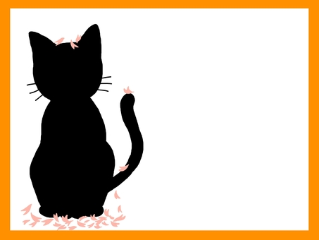 貓櫻花花瓣框架顏色
