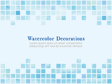 Tile-like material with watercolor touch Material Blue