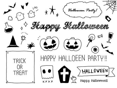 Handwritten Halloween material set