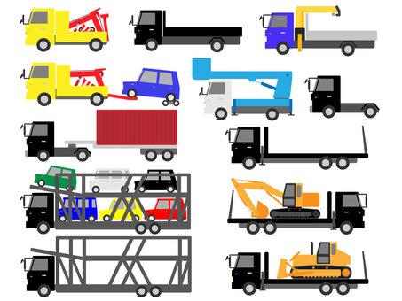 Working car (truck) material set 2