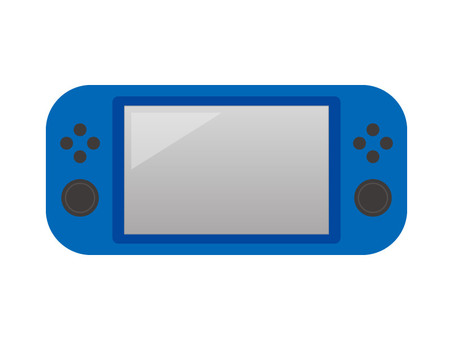 Game console (blue)