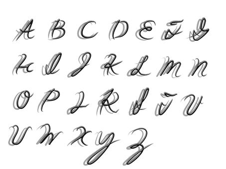 Cursive capital letter set
