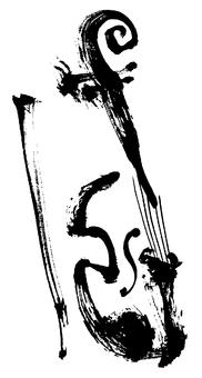 """붓 그림 """"바이올린"""""""