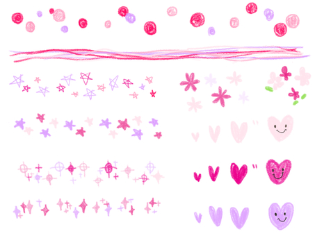 Hand-painted line pink type