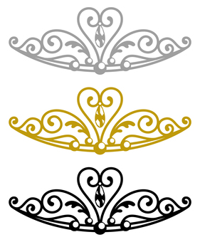 Tiara (simple 3 colors)