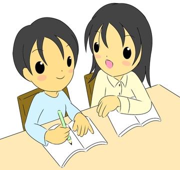 Family teacher and a boy