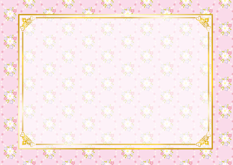 Flower pattern frame (pink)