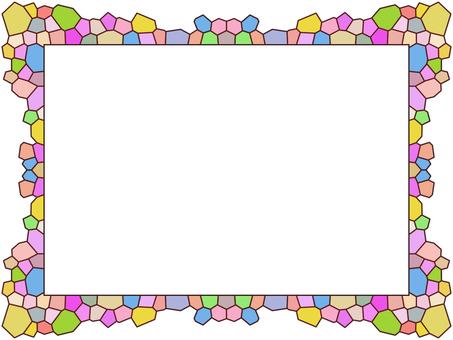 馬賽克圖案彩色玻璃擋風玻璃