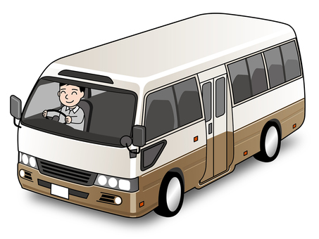 Illustration of a mini bus