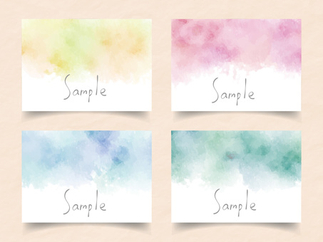 Watercolor frame set ver18