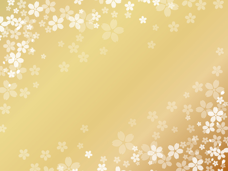 Cherry background gold