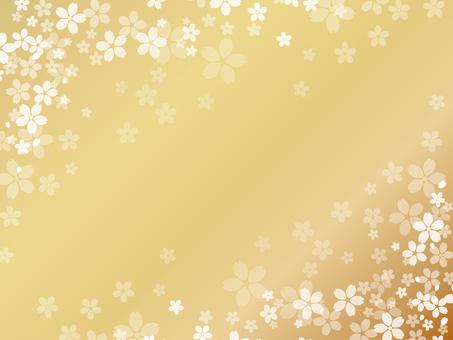 櫻桃背景黃金