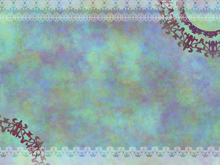 Antique color lace frame