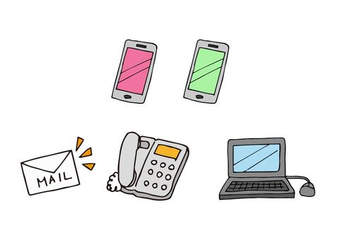 Communication device related icon set