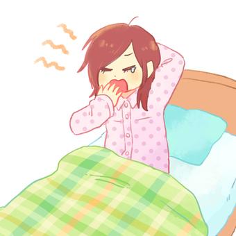 Lack of sleeping girl