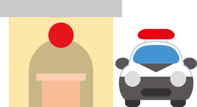 Simple police box car
