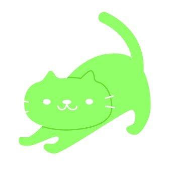 그린 고양이