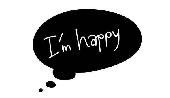 "Speech bubble ""Im happy"""