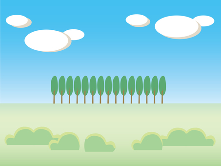 Landscape · grassland · trees