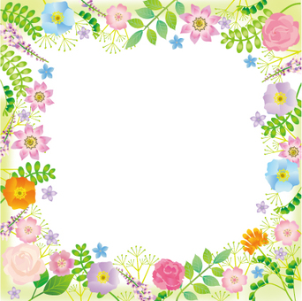 Plant and flower frame rectangle