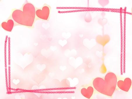 Fluffy heart frame