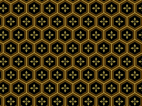 ai Japanese Pattern Pattern Honey Floral Background 5