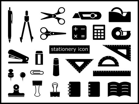 Icon set stationery