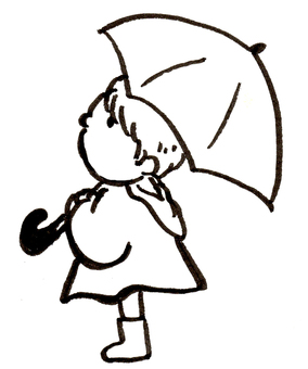 傘をもった男の子